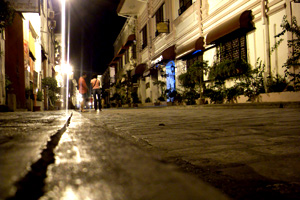 Vigan at night.