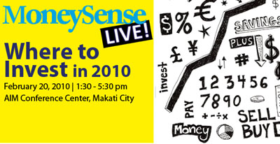 money sense seminar MoneySense Live Seminar: Where To Invest in 2010