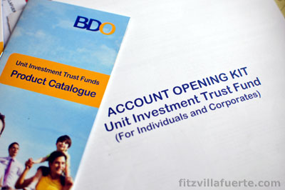 BDO UITF I Invested in Banco De Oros Easy Investment Plan (EIP)