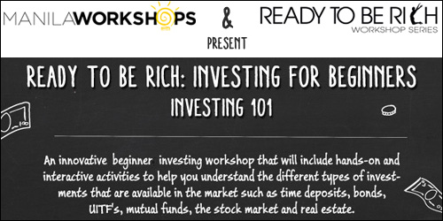 investing 101 poster Ready To Be Rich: Investing For Beginners Workshop