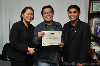 Me receiving my Upstart Training Certificate