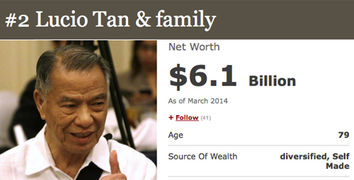 2 lucio tan How To Be a Billionare, A Lesson From Forbes