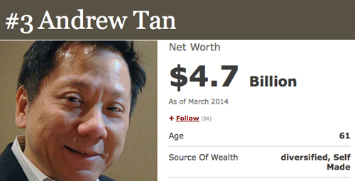 3 andrew tan How To Be a Billionare, A Lesson From Forbes