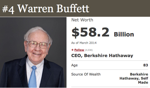 4 warren buffett How To Be a Billionare, A Lesson From Forbes