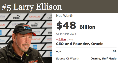 5 larry ellison How To Be a Billionare, A Lesson From Forbes