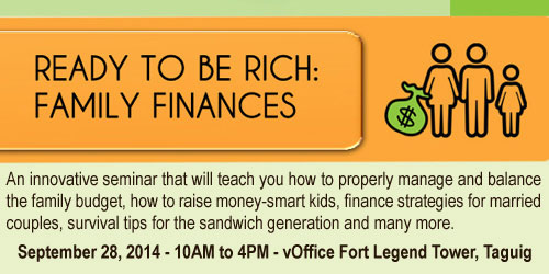 family finances 0928 Seminar on Financial Planning for Parents this September