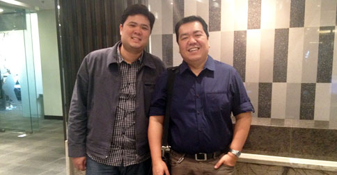 Luigi Santos of vOffice PH and me