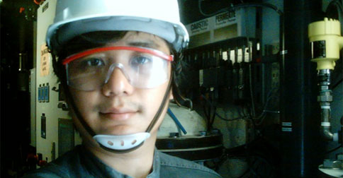Working inside the plant