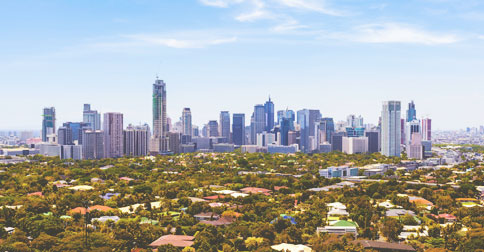Makati central business district, the Philippines' most important financial center.