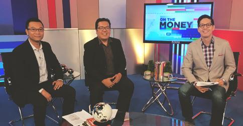 "Rienzie and Fitz with Edric Mendoza, host of ""On The Money"""