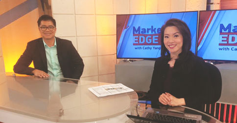 Ron Acoba at ANC's Market Edge with Cathy Yang
